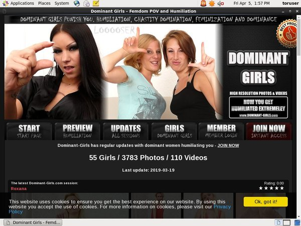 Dominant-girls.com Join With ClickandBuy