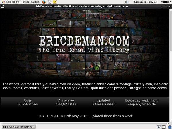 Ericdeman.com Live