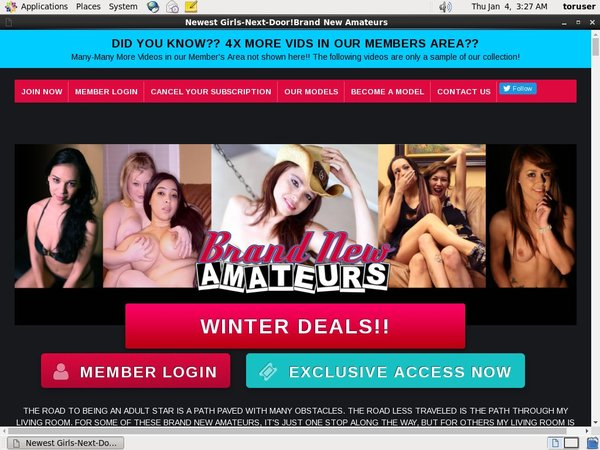 Free New Brand New Amateurs