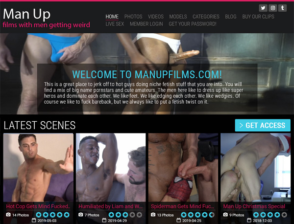 Real Man Up Films Accounts